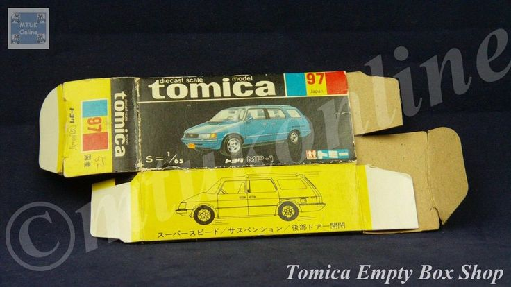 TOMICA 097B TOYOTA MP1   1/65   ORIGINAL BOX ONLY   1977 - 1983 JAPAN