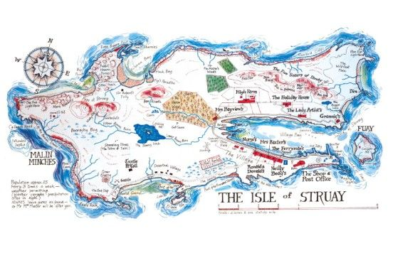 Isle of Struay Map by Katie Morag, illustrated by Mairi Hedderwick