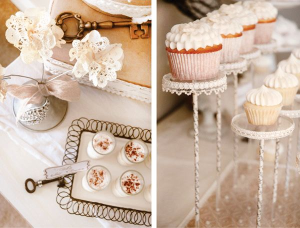 {Holiday Warmth} A Beautiful, French-Vintage Inspired Dessert Table