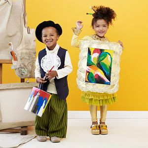 Homemade Halloween Costumes for the Perfect Pair of Kids: Artist and Painting Costume (via Parents.com)