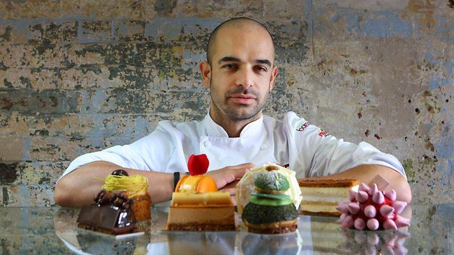 Pastry chef Adriano Zumbo at his Balmain patisserie.  ADRIANO ZUMBO  RESTAURANTS: Multiple Adriano Zumbo outlets across Sydney  MEDIA: Regular appearances on MasterChef, two cookbooks