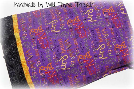 Handmade Children's Purple Halloween Standard by WildThymeThreads