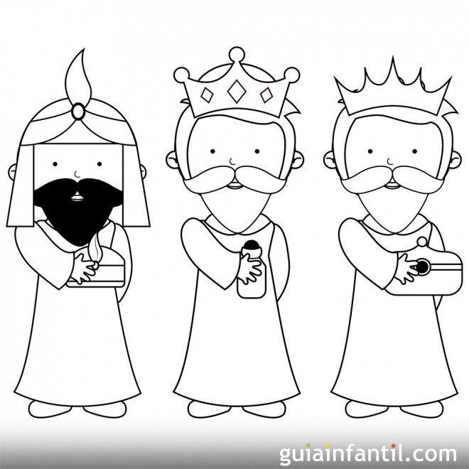 Https Www Guiainfantil Com Dibujo Sencillo De Los Reyes Magos Para Pintar Reyes Magos Dibujos Rey Para Colorear Tres Reyes Magos