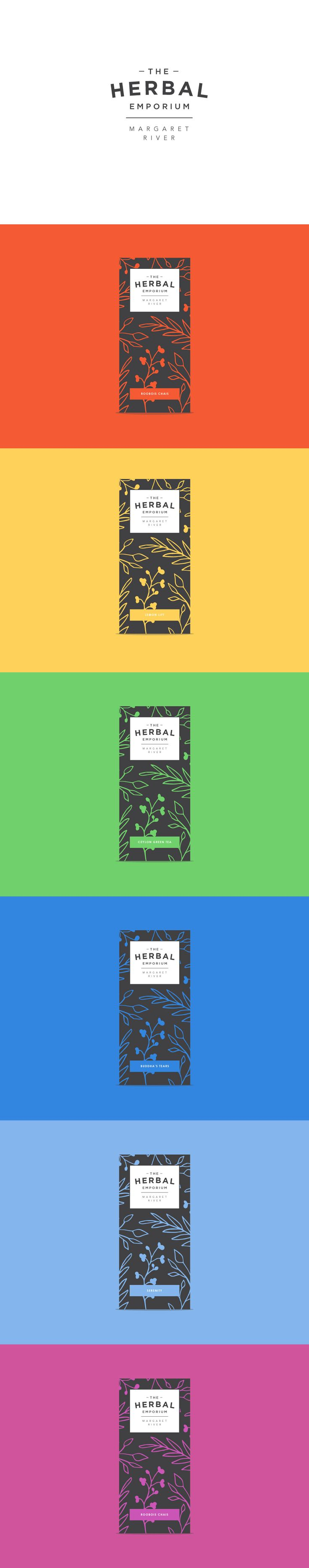 Unused branding concepts for The Herbal Emporium, a herbal tea brand in Margaret River. #design #brand #logo #herbaltea #tea #packaging