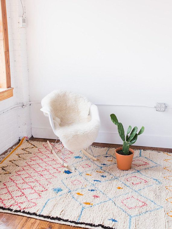 The Luna Shag Rug Moroccan Rug Berber Rug Nursery Rug