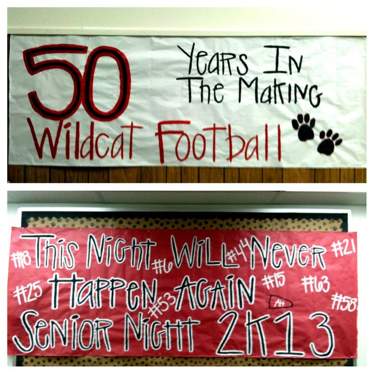 Senior Night - just a few more signs we made