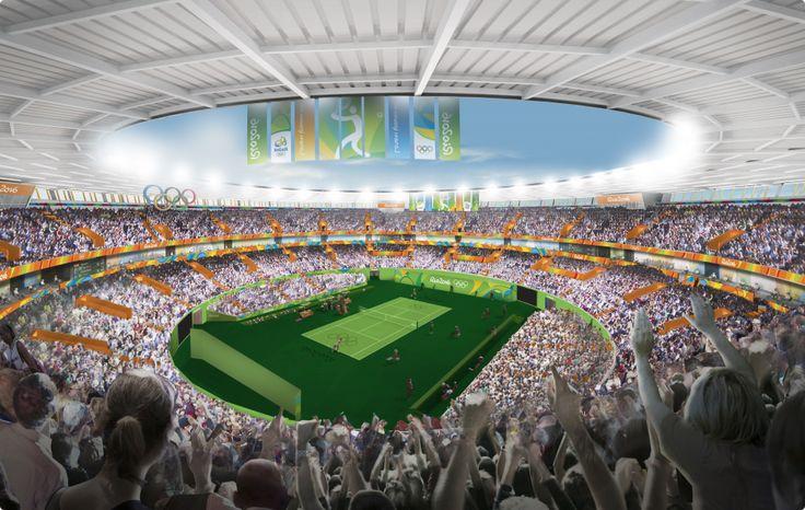 A arte vai compor o visual de todas as instalações dos Jogos Rio 2016, como o Centro Olímpico de Tênis (Foto: Rio 2016)