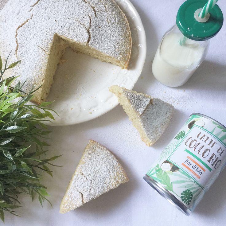 Torta al Latte di Cocco Senza Burro - Dolci Senza Burro