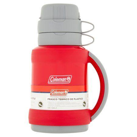 Coleman The Outdoor Company 1 qt Plastic Vacuum Bottle, Red