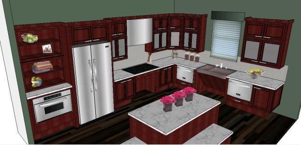 Moiliario Kitchen 3d Skp Model For Sketchup Kitchen Design Home Decor