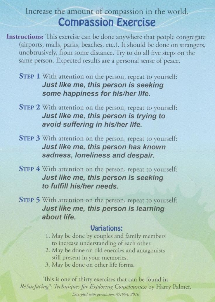 A lovely compassion exercise that we want to pass along! #compassion #introspection