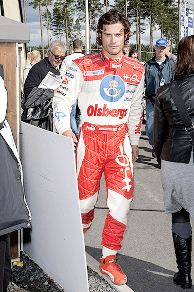 Prince Carl Philip of Sweden is also a race car driver.
