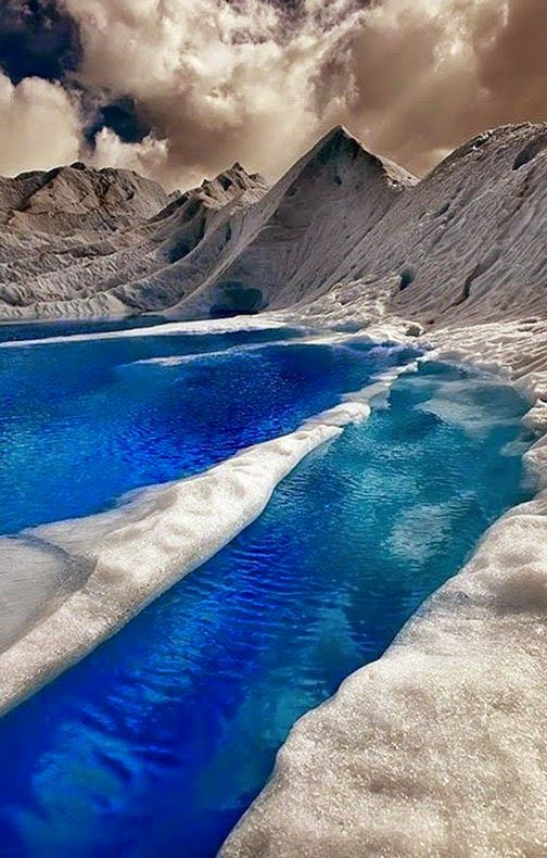 The Ice Blue Waters of Patagonia, Chile