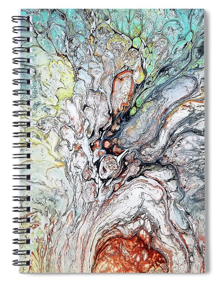 """This 6"""" x 8"""" spiral notebook features the artwork """"The Good Seed """" by Rosa Lopez on the cover and includes 120 lined pages for your notes and greatest thoughts."""