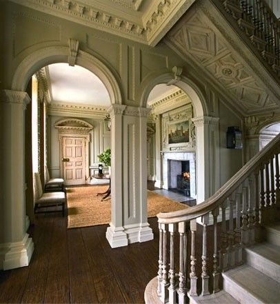 Absolutely stunning stair hall and sitting room in an for Sitting hall design