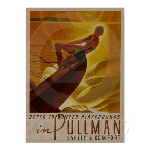 Pullman Railroad Cars ~ Vintage Travel Poster | More on the myLusciousLife blog: www.mylusciouslife.com