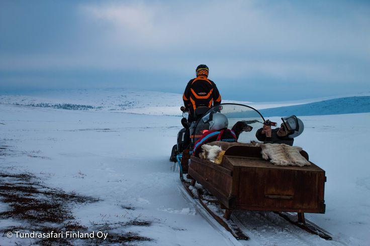#arctic #wilderness #utsjoki #finland #lapland #snowmobile #fell #winter
