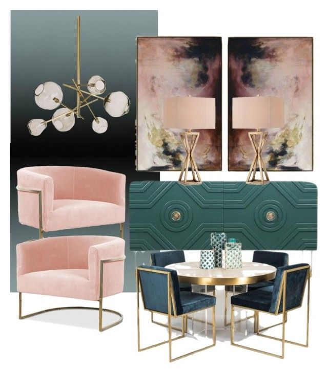 """Accent in pudré"" by myhouse-myideas on Polyvore featuring interior, interiors, interior design, home, home decor, interior decorating and Calico Wallpaper"