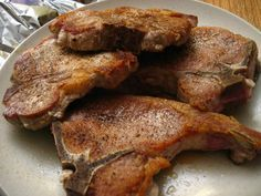 Air fried pork chops