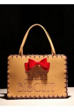 GrabMyLook  Baby Biscuit Red Bow Faux Leather Shopping Shoulder Tote Handbag Bag