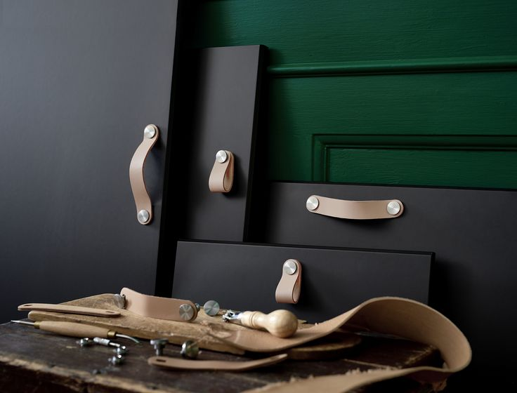 Add an extra twist to storage furniture with ÖSTERNÄS leather handle. Made of natural, tanned leather, the handle is made of leather scraps from other productions. Find it at IKEA!