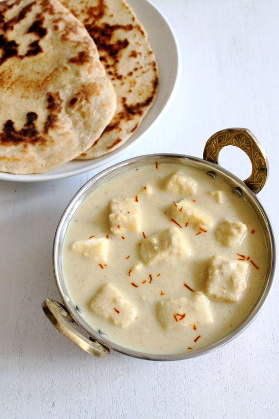 1096 best indian veg recipes images on pinterest cooking food mughlai shahi paneer recipe mughlai paneer in white gravy forumfinder Images
