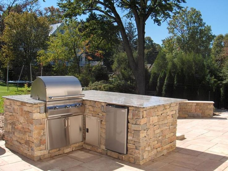 Built In Stacked Stone Bbq Grill 8 Google Search