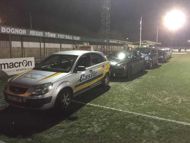 Non-League Bognor Regis Town FC Desperately Attempt To Thaw Frozen Pitch By Leaving Their Cars Running