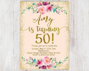 Birthday Floral Mint gold 30th birthday от InvitationsDigital
