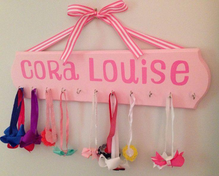 Little Girl's Headband Holder Rack by CorasCuties on Etsy