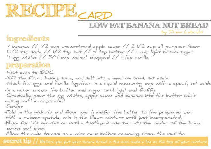 banana bread recipe card - photo #6