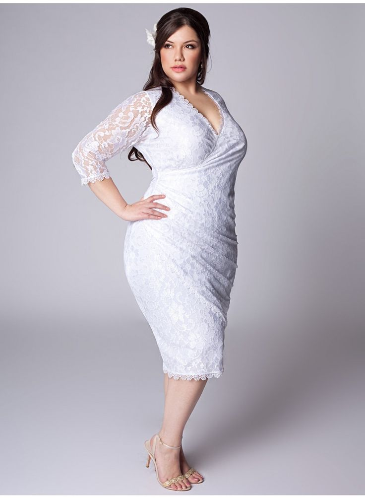 Fabulous  best short plus size wedding dresses images on Pinterest Wedding dressses Marriage and Wedding