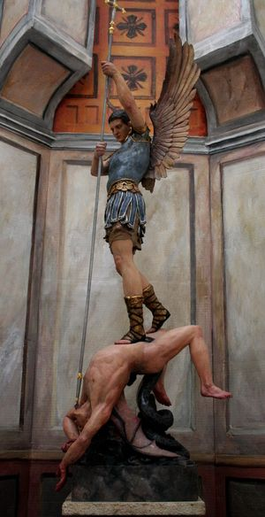 St Michael the Archangel, by Catholic artist (and convert) Peter Murphy StMichael9.JPG