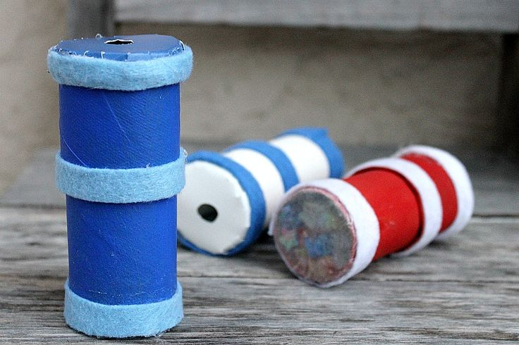 How to make kaleidoscopes using paper towel and toilet paper rolls