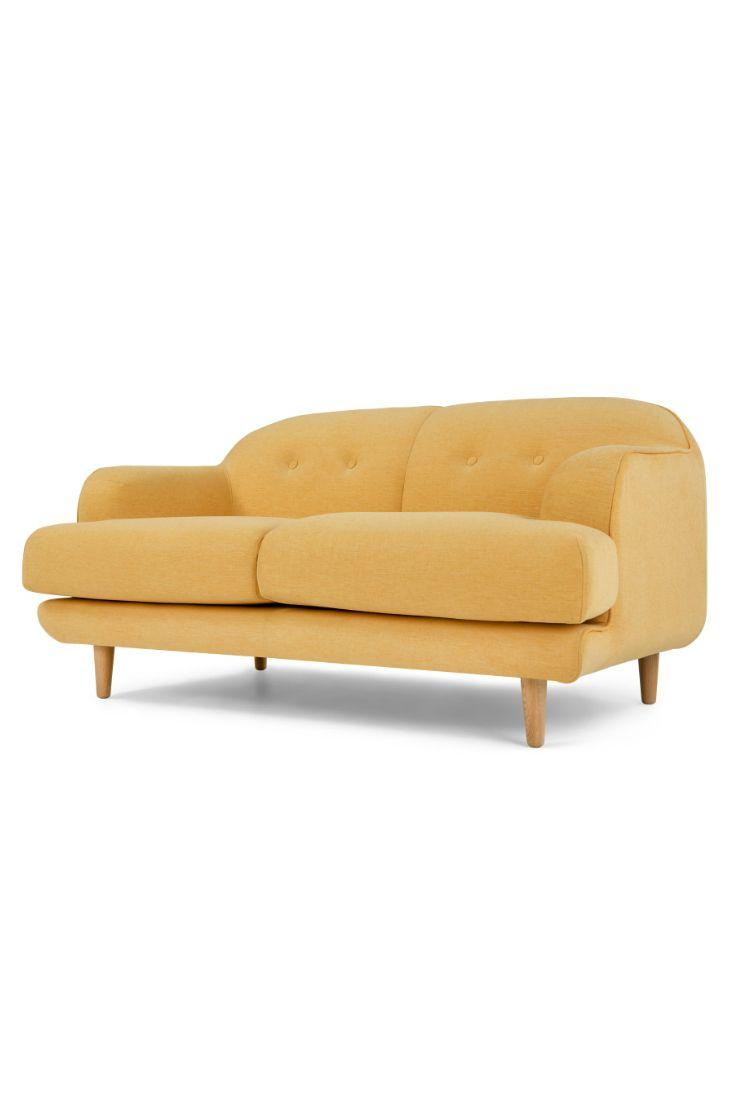 Gracie 2 Seat Sofa Butterscotch Yellow
