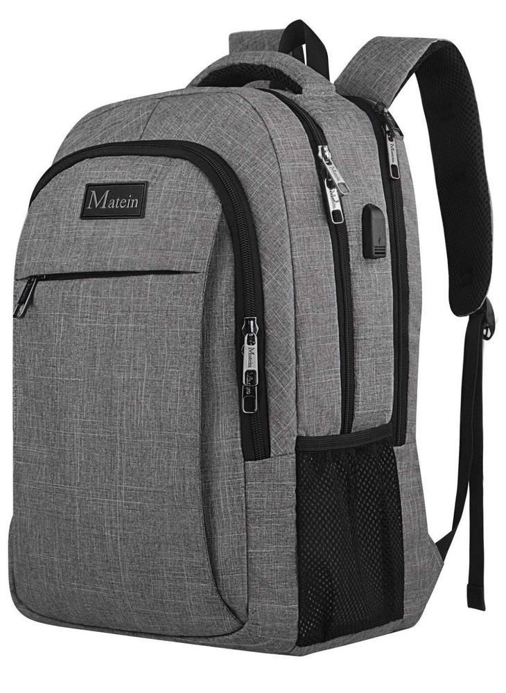 MATEIN TRAVEL LAPTOP BACKPACK BUSINESS ANTI THEFT SLIM DURABLE USB CHARGING  PORT  fashion  clothing  shoes  accessories  mensaccessories  bags (ebay  link) 866af341e4769