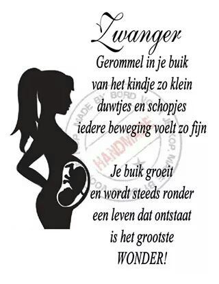 Zwanger 《bord voor je kop》