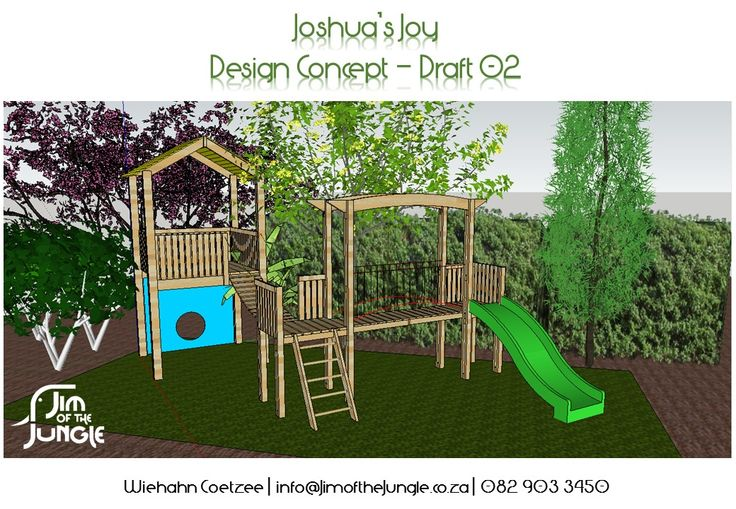 All Jim of the Jungle outdoor structures are custom designed according to client specifications, incl. Budget, Space and Child's preferences.