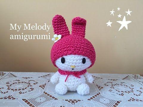 my melody Amigurumi (tutorial)/How to crochet my melody - YouTube