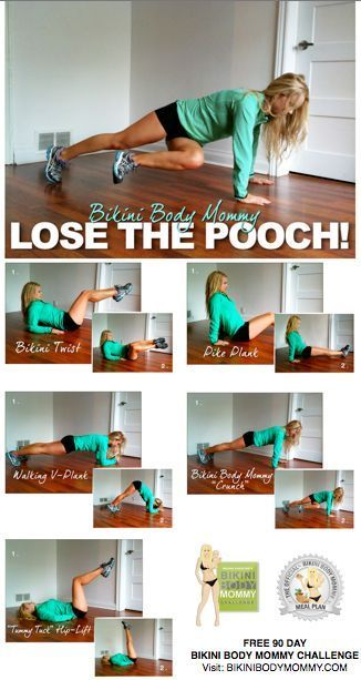 lose the pooch! I love bikini body mommy. She rocks!!!