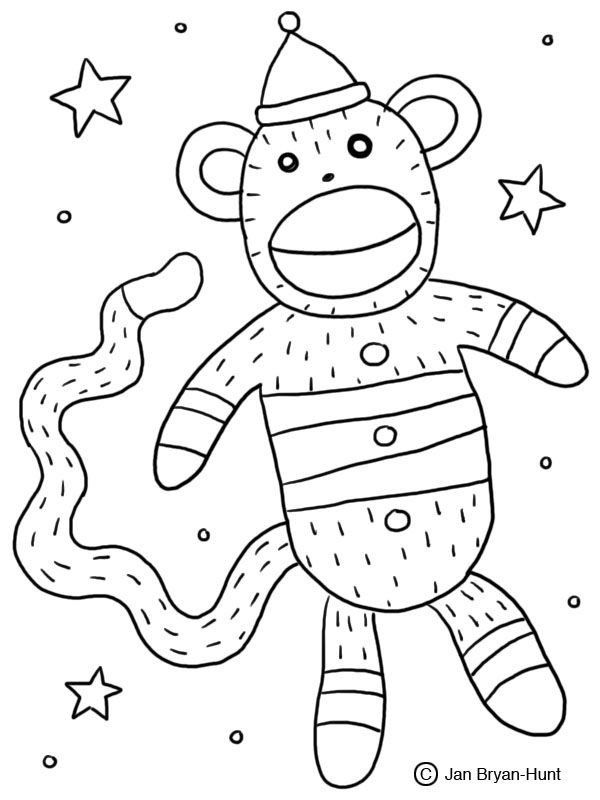 Sock Monkey Coloring Pages Free Monkey Coloring Book Page Download Free Clip Art Free In 2020 Monkey Coloring Pages Chibi Coloring Pages Stuffed Animal Patterns