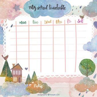 Fantasy school timetable