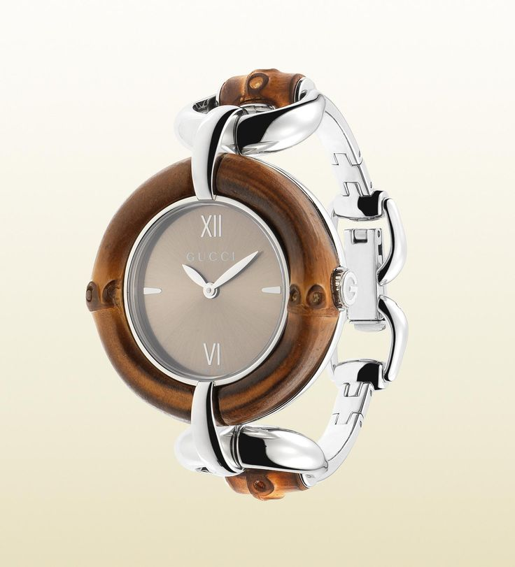gucci bamboo collection watch with brown dial