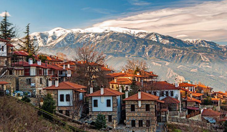 Palaios Panteleimonas is a mountain village of the municipality of Dio-Olympos, in the Pieria regional unit, Central Macedonia, Greece. Photo © Fokion Xiotakis