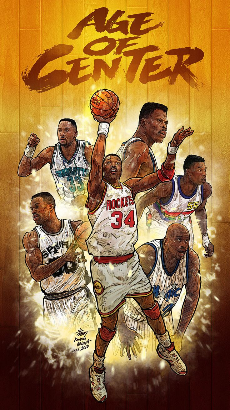 Artist: Kim MinSuk (김민석) - Greatest Centers #Yellowmenace #basketballart #NBAart + http://yellowmenace8.blogspot.com/2015/04/art-minsuk-kim-nba-2014-15-season-in.html
