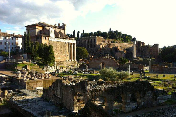 Beautiful weather in Rome in October