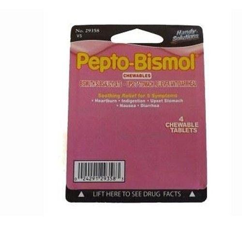 Pepto Bismol - 4 tablets