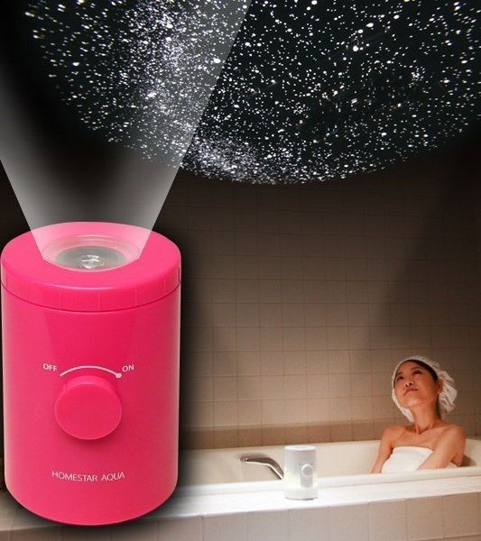 Bring 10,000 stars to your bathroom with the Aqua Home Planetarium Projector! - www.MyWonderList.com