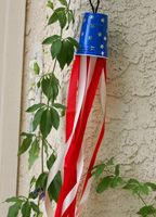 4th of July Cup Windsock Craft.  Instead of using crepe paper I am going to cut plastic table clothes in strips so I can hang them off our boat ;)