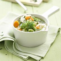 0-Punkte-Kohlsuppe mit Petersilie    1/2 Stück Wirsing      1 Stück (mittelgroß) Zwiebel/n      2 Stück Karotten/Möhren      100 g Rosenkohl    500 ml Gemüsebrühe, zubereitet, (1–2 TL Instantpulver)      100 g Blumenkohl, in Röschen      100 g Broccoli, in Röschen    1 Prise(n) Jodsalz    1 Prise(n) Pfeffer    1 EL (gehackt) Petersilie